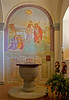Chapel in Pieve di San Leonlina, a small Romanesque church near Panzano, Tuscany, Italy