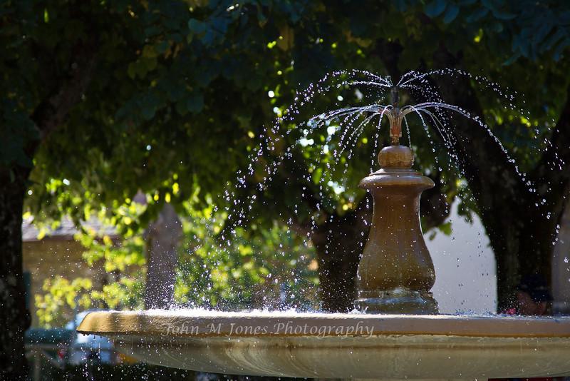 Fountain in park at Radda, Chianti region of Tuscany, Italy