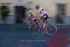 Bicyclers in Panzano, Chianti region of Tuscany, Italy