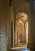 Arches above side aisle in Sant' Antimo Abbey, near Siena, Tuscany, Italy