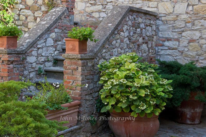 Stairway in Vertine, Chianti region of Tuscany, Italy
