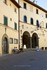 Palazzo del Podesta on main square of Radda, Chianti region of Tuscany, Italy