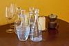 Glassware display, Vignamaggio winery, Chianti region, Tuscany, Italy