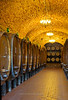 Barrels of wine, Vignamaggio winery, Chianti area, Tuscany, Italy