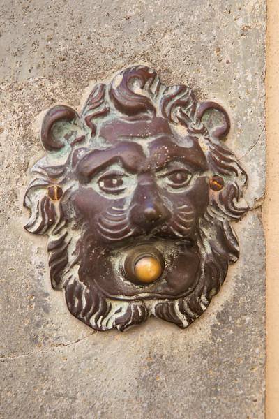 Doorbell in Radda, Chianti region of Tuscany, Italy