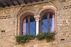 Windows, Street scene, San Gimignano, Tuscany, Italy