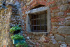 Window, Castell di Volpaia, Chianti region of Tuscany, Italy