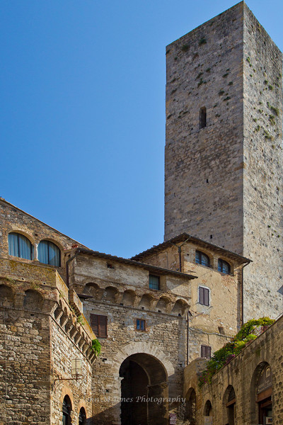 San Gimignano buildings and tower, Tuscany, Italy