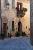 Street scene in Montefioralle, Tuscany, Italy