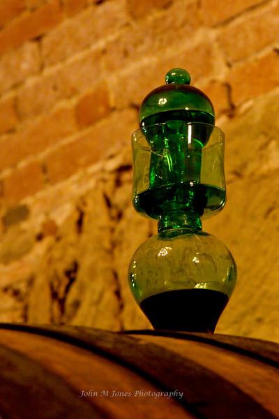 Wine barrel vent, Vignamaggio winery, Chianti region, Tuscany, Italy