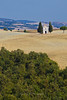 Capella Santa Maria di Vitaleta, a small chapel in the beautiful farmland of Tuscany's Val d'Orcia, Siena, Italy
