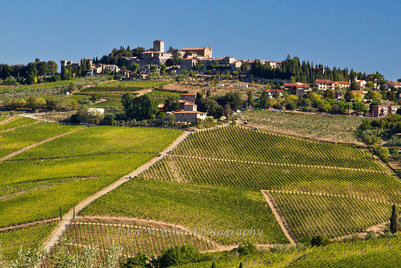 Vista from overlook near Panzano, Chianti region of Tuscany, Italy