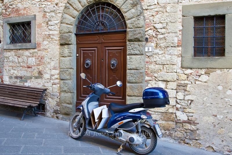 Street scene in Radda, Chianti region of Tuscany, Italy