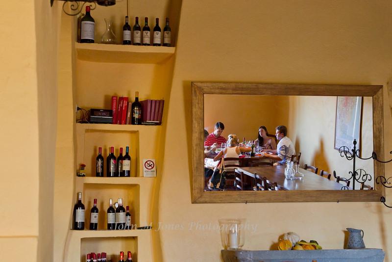 Mirror reflections, Vignamaggio winery, Chianti region, Tuscany, Italy