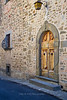 Old door, Castell di Volpaia, Chianti region of Tuscany, Italy