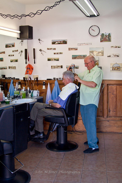 Barbershop in Panzano, Chianti region of Tuscany, Italy