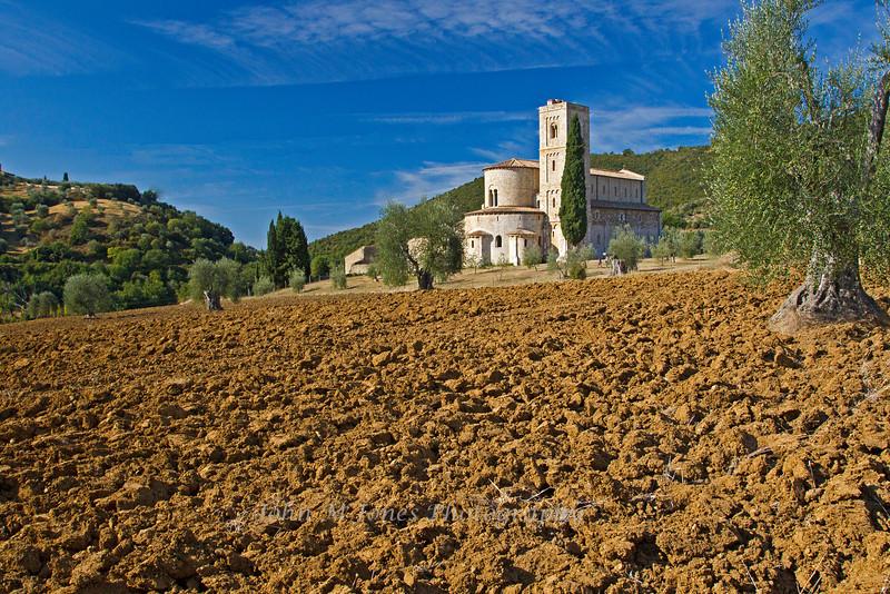 Sant' Antimo Abbey, near Siena, Tuscany, Italy