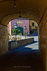 Tunneled walkway, Greve in Chianti, Tuscany Italy
