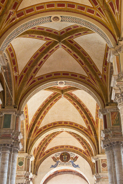 Ceiling of the Cathedral of Pienza, Siena, Tuscany, Italy