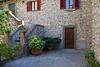 Courtyard and stairway  in Vertine, Chianti region of Tuscany, Italy
