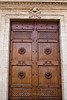 Cathedral of Pienza doors, Siena, Tuscany, Italy