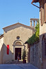 Ornithology museum in old elaborate Baroque church, San Gimignano, Tuscany, Italy