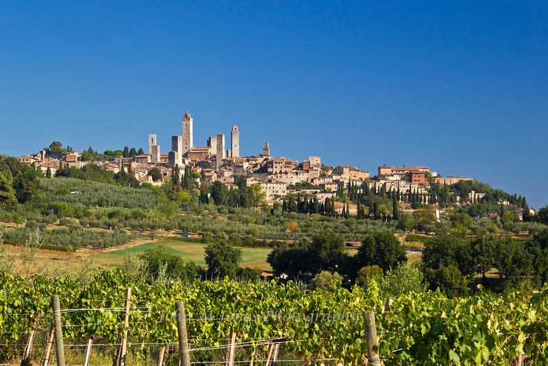 San Gimignano, an ancient hill town famous for its many towers, Tuscany, Italy