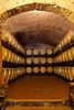 Barrels of wine, Vignamaggio winery, Chianti region, Tuscany, Italy