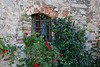 Window in Vertine, Chianti region of Tuscany, Italy