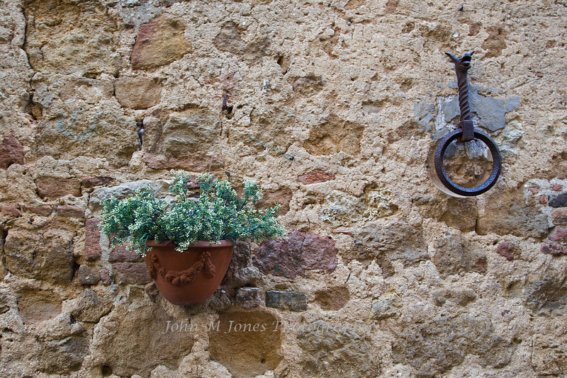 Tether ring in Pienza, Siena, Tuscany, Italy