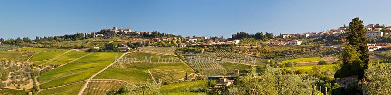 Panorama from overlook near Panzano, Chianti region of Tuscany, Italy