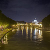 St. Peters over the Tiber River, Rome, Italy