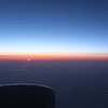 Midnight sun over Greenland en route to Italy