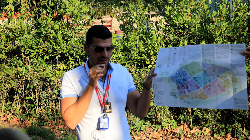 Massimo is our local tour guide.