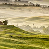 Early morning on countryside near Pienza, Tuscany, Italy