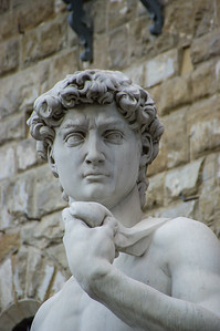 Replica of the sculpture of David in Firenze