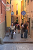 Corniglia is even smaller than Manarola, and the streets are lined with cafes and shops . . .