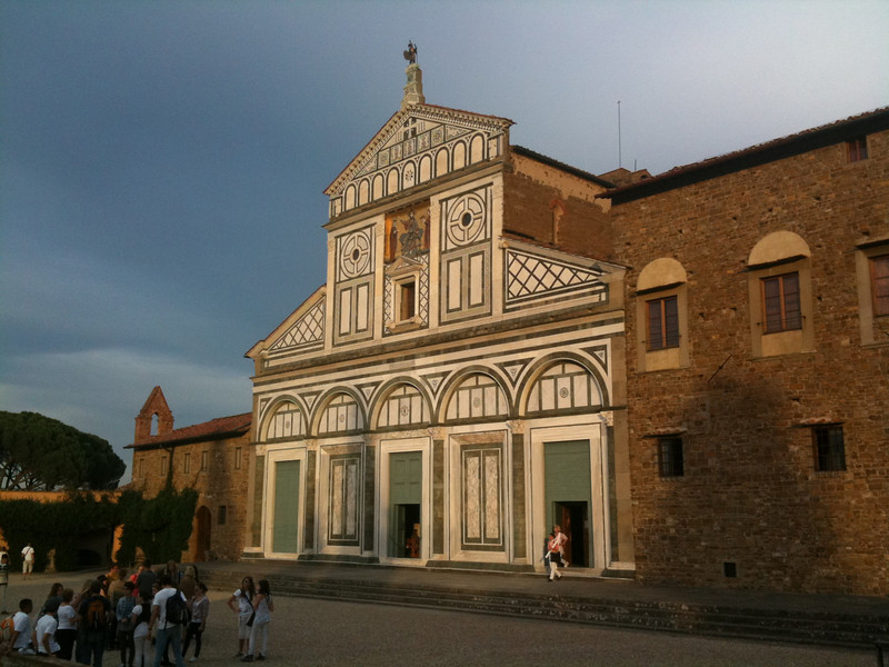 San Miniato al Monte at sunset (the Monks just finished singing Gregorian chants)