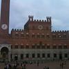 """The Piazza del Campo (where """"Il Palio"""" is raced) in front of Palazzo Pubblico"""