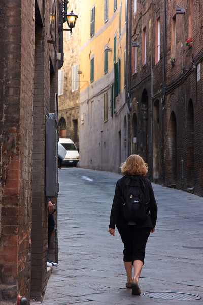 We arrived early and walked through the ancient streets, trying to get a jump on the crowds . . .