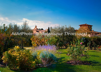 My favourite place in the Chianti: Villa Le Barone, view from the garden
