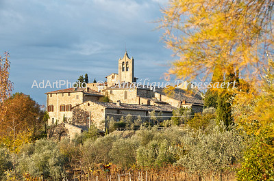 The pieve San Leolino as seen from Villa Le Barone, Chianti