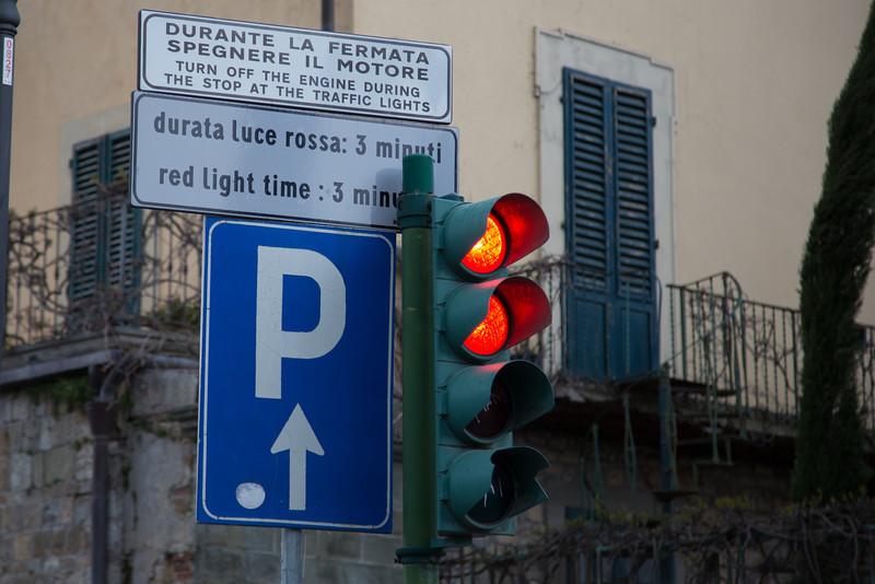 Long red light.
