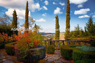 After the Rain, back terrasse, Villa Le Barone