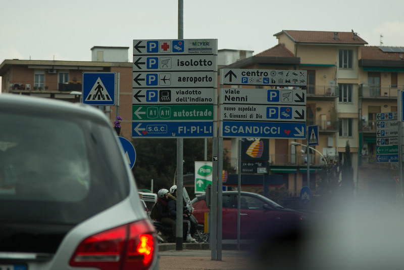 Roundabouts and streetsigns. The bane of the international driver.