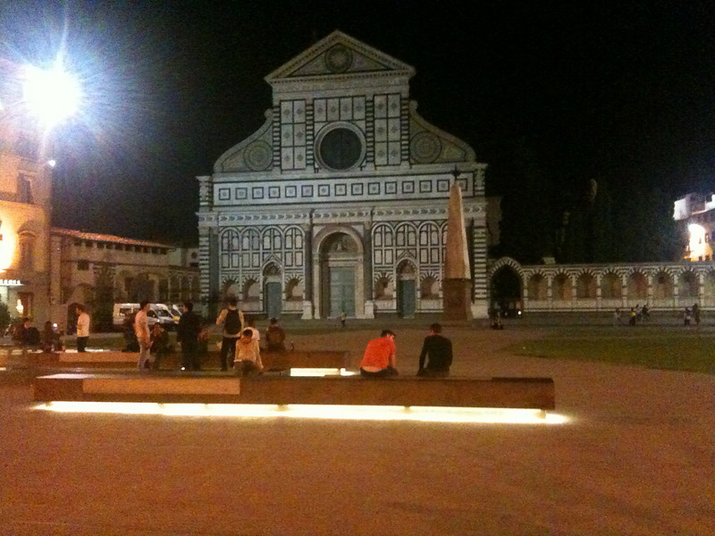 Back in Florence (church of Santa Maria Novella, right by the train station)