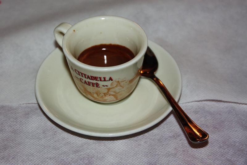 . . . espresso, then said goodbye . . .