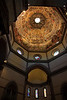 The dome is 300 feet high and is covered with a vast fresco of the Last Judgment.