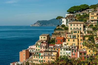 The town of Riomaggiore on the Cinque Terre coast of Italy