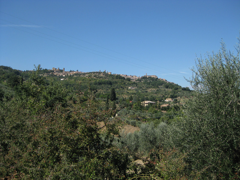 Looking back up at Montalcino